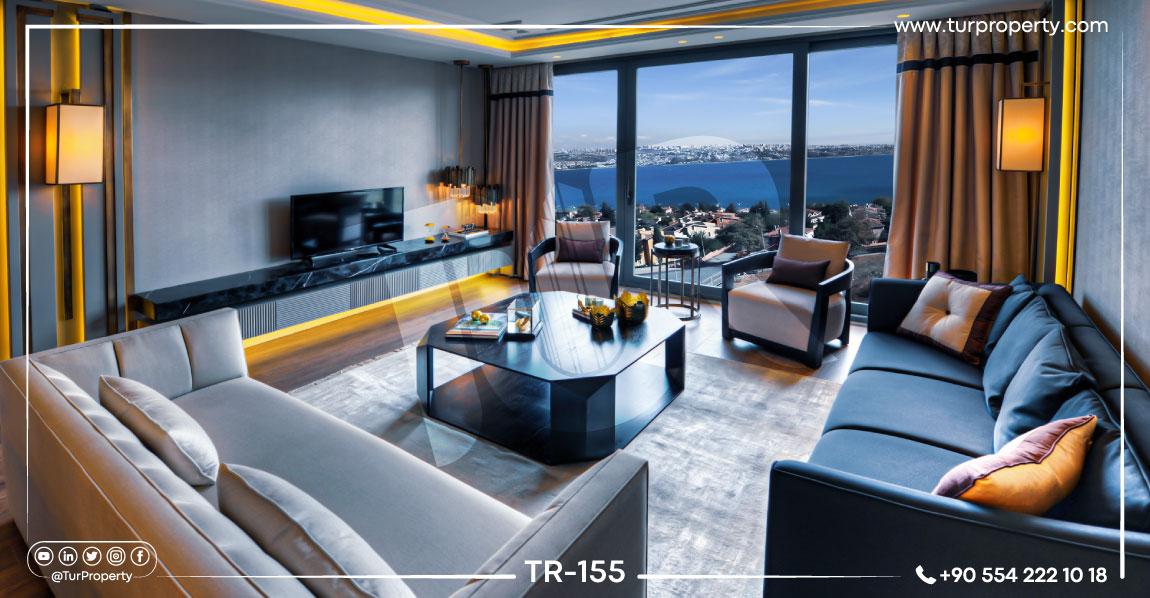 آپارتمانهای فروشی در استانبول ترکیه با دید دریا